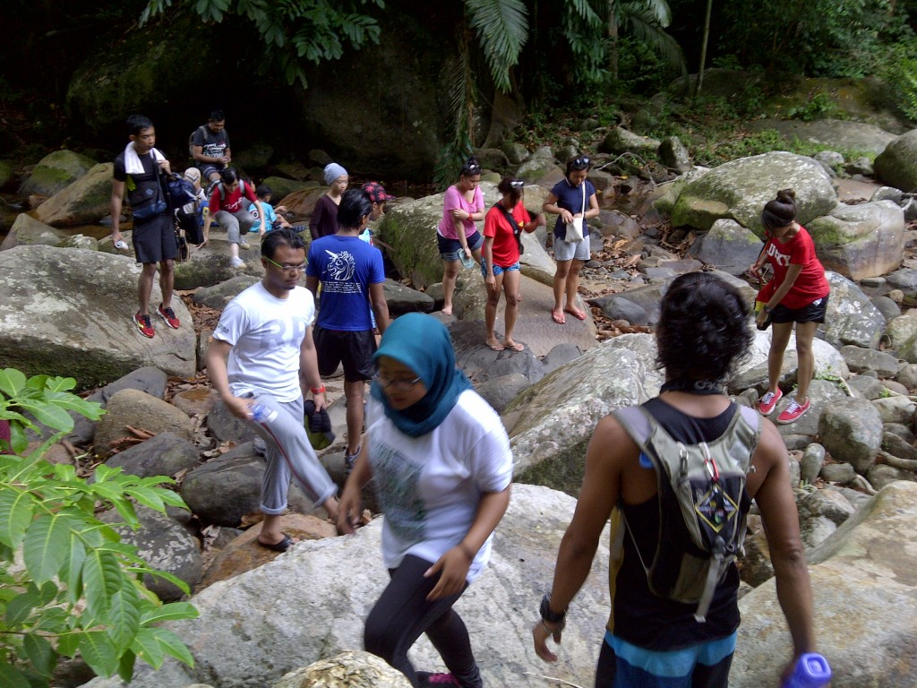 tackling trekking the mentawak waterfall trail
